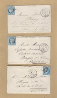 3 Enveloppes Donc 2 Avec Correspondance De Bone Algérie GC 5015 Vers Bragny Verso Tad Ambulant Spécial - Marcofilia (sobres)