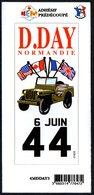 FRANCE - AUTOCOLLANT / STICKER - DEBARQUEMENT EN NORMANDIE - D.DAY 6 JUIN 44 - Adesivi