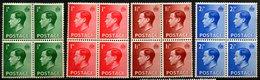 GRANDE BRETAGNE - 1936 - Blocs De 4 Des N° 205 à 208 - (Lot De 4 Valeurs Différentes) - (Edouard VIII) - 1902-1951 (Re)