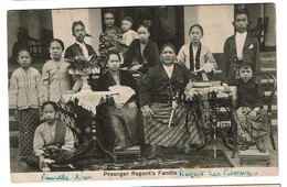 Indes Orientales Néerlandaises - Indonésie - Preanger Regent's Familie - 1909 - Uitg. Tio Tek Hong - 2 Scans - Indonésie