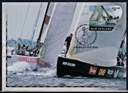 A1249 NEW ZEALAND 2003, SG 2540 $2 America's Cup.yachting, First Day Card - Covers & Documents