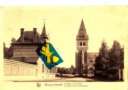 BOURG-LEOPOLD - L'Eglise Et La Poste - De Kerk En Het Postkantoor - Leopoldsburg