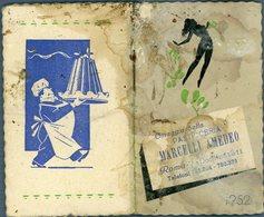 °°° Calendario  Dello Sport 1952 Raro °°° - Calendari