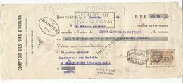 Lettre De Change Du 7 Décembre 1933 Comptoir Des Vins D'origine  + Timbre Fiscal - Bills Of Exchange