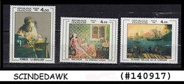 FRANCE - 1982 PAINTINGS SCOTT#1931-33 - 3V - MINT NH - Künste