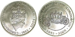 05248 GETTONE TOKEN JETON COMMEMORATIVE CORONATION ANNIVERSARY ELIZABETH II 1953-2003 - Royaume-Uni