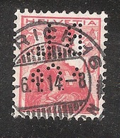 Perfin/perforé/lochung Switzerland No YT131 1909-1932 Hélvetie B.L.  &C°  Bamberger, Leroi & Co AG Zurich - Perforés