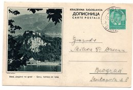 1938 YUGOSLAVIA, SLOVENIA, BLED, POSTAL STATIONERY, USED - Slovenia