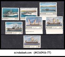 GREECE - 1978 NEW & OLD GREEK NAVAL SHIPS SCOTT#1273-1279 - 7V - MINT NH - Schiffe