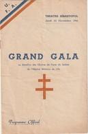 Lille - Théatre Sébastopol - Programme De Gala Au Bénéfice Du Foyer Du Soldat De L'hopital Militaire - 4 Pages - Documents