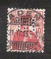 Perfin/perforé/lochung Switzerland No YT131 1909-1932 Hélvetie BB  AG Brown, Boweri & Cie  Baden - Gezähnt (perforiert)