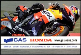 MOTORCYCLING - ITALIA - GAS HONDA - BUY OFFICIAL GAS-HONDA CLOTHING - PROMOCARD - Sport Moto