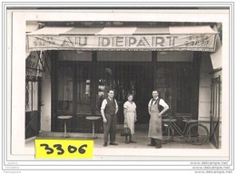 7566 AK PC CARTE PHOTO   DEVANTURE CAFE AU DEPART - Cartoline