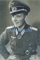 Dédicace Originale - Heer - Original Unterschrift Von Hans Sturm, Melder 6. / Infanterie-Regiment 473 - Ritterkreuz - Guerre, Militaire