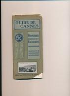 GUIDE DE CANNES Vraiment Très Complet Avec Sa Carte Programme Des Fêtes Régates Tennis Croquet Courses De Chevaux - Côte D'Azur