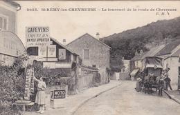CPA (78) SAINT REMY Les CHEVREUSE Le Tournant De La Route De Chevreuse Buvette Marchand De Cartes Postales (2 Scans) - St.-Rémy-lès-Chevreuse