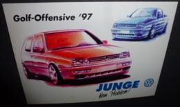 Carte Postale - Golf-Offensive '97 - Autohaus Junge (voiture) Volkswagen - Advertising