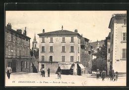 CPA Draguignan, La Place-Porte De Trans - Draguignan
