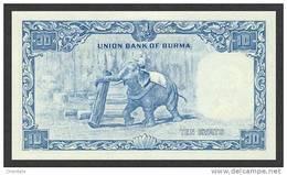 BURMA P. 48a 10 K 1958 UNC - Myanmar
