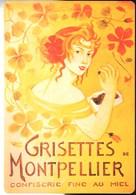 Jolie Carte Publicitaire **GRISETTES De MONTPELLIER Délicieuse Spécialité Languedocienne** NEUVE - Publicité