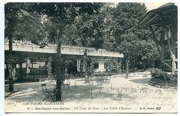 CPA 1916 - MARTIGNY Les BAINS Coin Du Parc Petits Chevaux - Ecrite De L'Hôpital Temporaire Par Soldat Blessé Douaumont - France