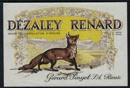 Rare // Etiquette De Vin // Autres // Dézaley, Le Renard - Etiquettes