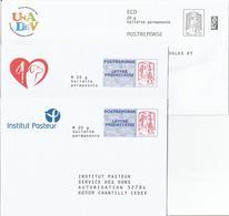 Prêt à Poster Réponse , POSTREPONSE Et ECO 20g, Ciappa-Kavena, 3 Enveloppes Neuves, TB. - Entiers Postaux