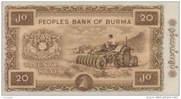 BURMA P. 55 20 K 1965 UNC - Myanmar