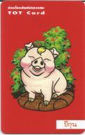 """Télécarte Neuve """"TOT Card"""", 100 Baht, Petit Cochon à La Mèche, TTB - Thaïlande"""