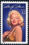 1995 USA Marilyn Monroe Stamp #2967 Legends Of Hollywood Famous - Other