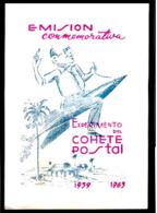 575  Hojita Del Club Filatélico De ... - Cohete Postal 1963 - Cb - 3,50 - Non Classés
