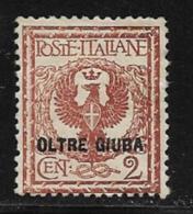Oltre Giuba, Scott # 2 Mint Hinged Italy Stamp Overprinted, 1925 - Oltre Giuba