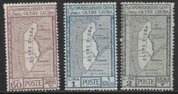 Oltre Giuba, Scott # 33-5 Mint Hinged Map, 1926 - Oltre Giuba