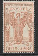 "Oltre Giuba, Scott # B5 Mint Hinged ""Peace"", 1926, Short Perf - Oltre Giuba"