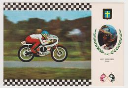1312/ MOTO GRAND PRIX Kent Anderson, YAMAHA G.P. 125 Cc (1975). Non écrite. Unused. No Escrita. Non Scritta. Ungelaufen. - Motociclismo