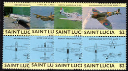 St Lucia 1985 Military Aircraft Unmounted Mint. - St.Lucia (1979-...)