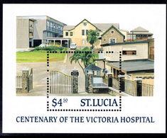 St Lucia 1987 Centenary Of Castries Hospital Souvenir Sheet Unmounted Mint. - St.Lucia (1979-...)