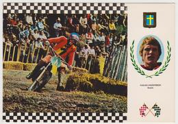 1315/ MOTOCROSS H. Andersson (Sweden), YAMAHA 97,5 Kg (1975). Non écrite. Unused. Non Scritta. Ungelaufen. - Sport Moto