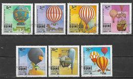 GUINEA BISSAU 1983 PRIMA ASCENSIONE DELL'UOMO NELL'ATMOSFERA YVERT. 173-179 USATA VF - Guinea-Bissau
