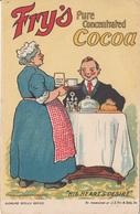 Fry's Cocoa His Heart's Desire Advertising Postcard - Publicité - Written - VG Condition - 2 Scans - Advertising