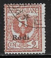 Italy Aegean Islands Rhodes Scott # 1 Used Italy Stamp Overprinted, 1912 - Aegean (Rodi)