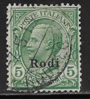 Italy Aegean Islands Rhodes Scott # 2 Used Italy Stamp Overprinted, 1912,short Perf At Bottom Left Corner - Aegean (Rodi)