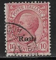 Italy Aegean Islands Rhodes Scott # 3 Used Italy Stamp Overprinted, 1912 - Aegean (Rodi)