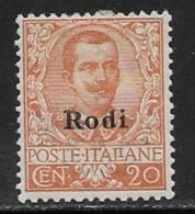 Italy Aegean Islands Rhodes Scott # 5 Mint Hinged Italy Stamp Overprinted, 1916 - Aegean (Rodi)