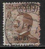 Italy Aegean Islands Rhodes Scott # 8 Used Italy Stamp Overprinted, 1912 - Aegean (Rodi)