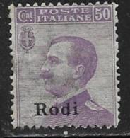 Italy Aegean Islands Rhodes Scott # 9 Mint Hinged Italy Stamp Overprinted, 1912 - Aegean (Rodi)