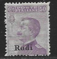Italy Aegean Islands Rhodes Scott # 9 MNH Italy Stamp Overprinted, 1912 - Aegean (Rodi)