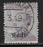 Italy Aegean Islands Rhodes Scott # 9 Used Italy Stamp Overprinted, 1912 - Aegean (Rodi)
