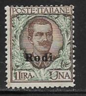 Italy Aegean Islands Rhodes Scott # 11 Mint Hinged Italy Stamp Overprinted, 1924 - Aegean (Rodi)