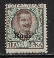 Italy Aegean Islands Rhodes Scott # 11 MNH Italy Stamp Overprinted, 1924 - Aegean (Rodi)